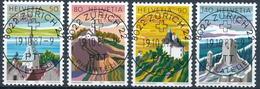 753-756 / 1354yb-1357yb Mit Vollstempel ZÜRICH 22 PHILATELIE 19.10.1987 - Schweiz