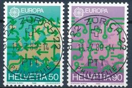 763-764 / 1370-1371 Mit Vollstempel ZÜRICH 22 PHILATELIE 11.07.1988 - Schweiz