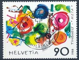 769 / 1380 Mit Vollstempel ZÜRICH 22 PHILATELIE 05.12.1988 Jean Tingueli - Schweiz
