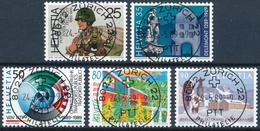 770-774 / 1385-1389 Mit Vollstempel ZÜRICH 22 PHILATELIE 24.05.1989 - Schweiz
