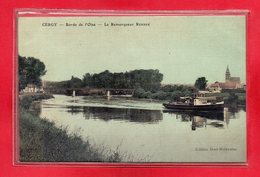 95-CPA CERGY - CARTE TOILEE - Cergy Pontoise