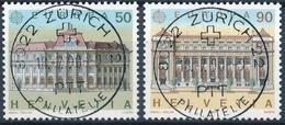 797-798 / 1415-1416 Mit Vollstempel ZÜRICH 22 PHILATELIE 18.07.1990 - Schweiz