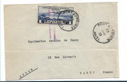 HA007 / Flugpostmarke Auf Brief Von 1929 Als Einzelfrankatur Nach Frankreich - Haiti