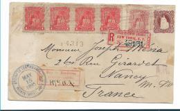 Hon038 / Brief Von Honduras, Seebeckmarken + Ganzsache 1895 Nach Frankreich.  Bedarfs Verwendet. EXTREM SELTEN - Honduras