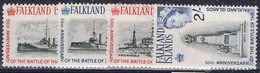 DO 6432 FALKLAND  XX   YVERT NR 144/147 ZIE SCAN - Falkland