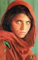 Afghanistan Postcard National Geographic Girl Sharbat Card Printed In London - Afghanistan