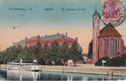 ALLEMAGNE 1922 CARTE POSTALE  DE BRANDENBURG  SALDRIA   ST.JOHANN KIRCHE - Brandenburg