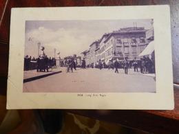 18054) PISA LUNG'ARNO REGIO VIAGGIATA 1910 ANGOLO RIPARARTO CON NASTRO ADESIVO - Pisa