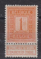 BELGIQUE 1912: 1C Orange, Neuf ** - België