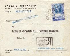 ITALIA REPUBBLICA-RACCOMANDATA VIAGGIATA COME DA FOTO - 6. 1946-.. Repubblica