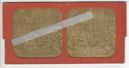 SURREALISM SURREALISME HOMMES ET FEMMES ANIMAUX PHOTO STEREO Circa 1865 BICHE AUX BOIS Palais D'Aika /FREE SHIPPING R - Stereoscoop
