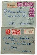 DROME De HAUTERIVES 2  Env. Recom. De  1949  1952  Avec Dateur   A 6 Et A 7 - 1921-1960: Periodo Moderno