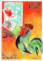Timbres - Union Des Philatélistes Et Des Télécartistes - Série 50 Ans De Collection Dessin De Gaston Touraine - Timbres (représentations)