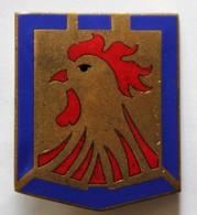 Insigne émaillé Coq 12 Division D'Infanterie Motorisée 12 DIM Drago G1278 - Armée De Terre
