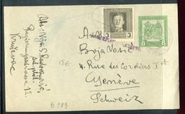 Autriche - Hongrie - Entier Postal + Complément Pour La Suisse En 1918 - 1850-1918 Imperium