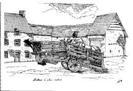 """Agriculture - Batteuse à Plan Incliné Ou """"Trépigneuse"""" Ferme Type Bessin-  Illustrateur Denis Martin - Agriculture"""