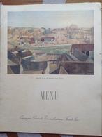 Menu Paquebot Normandie CGT - Dinner 1er Mai 1937 - Village De France (où ?) Par Ceria - Menus