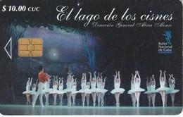 Nº 255 TARJETA DE CUBA DE EL LAGO DE LOS CISNES - Cuba