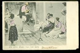 NEDERLAND ANSICHTKAART * Gelopen In 1912 Naar Amsterdam * FANTASIE (3888) - Fantasie