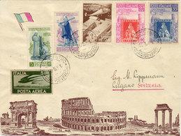 ITALIA -LETTERA PLURIAFFRANCATA E VIAGGIATA COME DA FOTO - 6. 1946-.. Repubblica