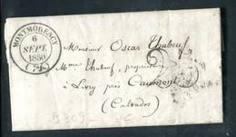 Lettre Avec Texte ( Scan Intérieur Sur Demande ) De Montmorency Pour Livry En 1850 - Marcophilie (Lettres)