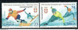 Serbia 2018 Winter Olympic Games, PyeongChang, Snowboarding, Speed Skating, Sport, Snow,MNH - Winter 2018: Pyeongchang