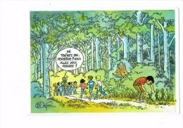 Scoutisme - Scouts De France - Humour Garçons FILLES EN FORET - CERF - Style Petit Poucet - Noeud Dans Les Herbes - Scouting
