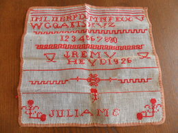 ANCIEN  ABECEDAIRE SCOLAIRE 1926 - Cross Stitch
