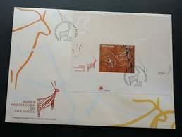 Portugal Archeology National Park Cõa-Tal 1998 (miniature FDC) - 1910-... Republic