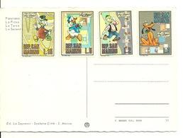 REP. DI SAN MARINO - L.15 PICSOU + L.5 DONALD + L.3 PLUTO + L.2 GEO TROUVETOU Sur CARTE POSTALE SAN MARINO - Lettres & Documents