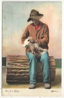 Two Of A Kind (Black Man Sitting With Possum) - Black Americana
