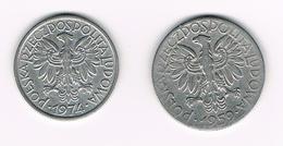 &-  POLEN  2  ZLOTE + 5 ZLOTYCH  1974/1959 - Pologne