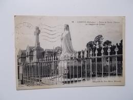 CPA 14-  LISIEUX - Statue De Sainte Therèse Au Cimetière De Lisieux  1936   NO REPRO - Lisieux