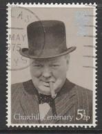 GB 1974 Birth Centenary Of Sir Winston Churchill  5½p  Grey & Black SG 963 O Used - 1952-.... (Elizabeth II)