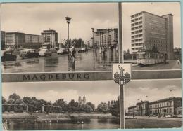 CPSM Format CPM:  MAGDEBURG (allemagne):  Multivues (animé - Vieilles Voiture Et Tramwway)   (E720) - Magdeburg