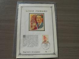 """BELG.1973 1690 Feuillet D'art Or Fin Limité à 400 Exemplaires """"Louis Pierard (1886-1952) """" - 1971-80"""