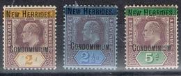 DO 6467  NEW HEBRIDES   XX + X  YVERT NR 7/9 ZIE SCAN - Légende Anglaise