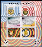 1990,  Italien, 2111/16 Block 4,  Fußball-Weltmeisterschaft, Coppa Del Mondo Di Calcio, MNH ** - 6. 1946-.. Repubblica