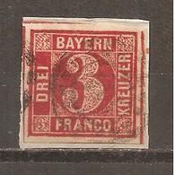 Baviera. Nº Yvert  10  (usado) (o) (con Papel) - Bavaria