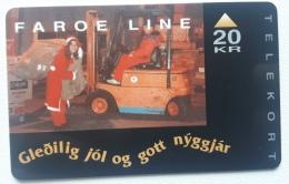 Faroe Island , Faroe Line Christmas 1993 OD 004 , Unused - Faroe Islands