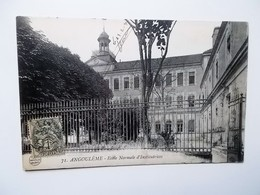 CPA 16 - ANGOULEME - Ecôle Normale D'Institutrices , Signée 23-2-1921   NO REPRO - Angouleme