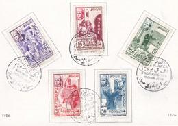 MAROC  Carte+étui  Lutte Contre L'Analphabétisme  Nov. 1956 - Lettres & Documents