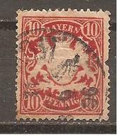 Baviera. Nº Yvert  41 (usado) (o) (defectuoso) - Bavaria