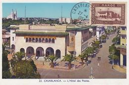 MAROC  Carte Maximum  Hotel Des Postes Casablanca   Avr. 54 - Maroc (1891-1956)