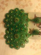 Macmode Orecchini Bigiotteria Verdi Con Swarovski Fantastici Nuovi - Altri