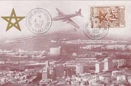 MAROC  Carte Maximum  Foire Internationale Casablanca   Mai. 57 - Maroc (1891-1956)