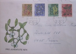 Enveloppe Suisse - Pro Juventute 1974 - Bois Gentil - Gui - Cytise - Belladone - Plantes Toxiques