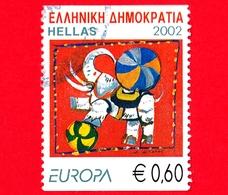 GRECIA - Usato - 2002 - Europa - Circo - Animali Stilizzati - Elefante  - 0,60 € - Usati
