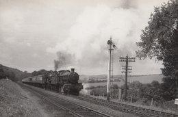 GWR 68XX Class 4-6-0 Sapperton Gloucester Signal Box Train Real Photo Postcard - Trains
