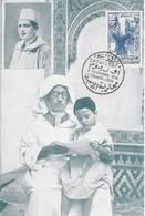 MAROC  Carte Maximum  Lutte Conte L'Analphabétisme   Casablanca   Nov. 56 - Lettres & Documents